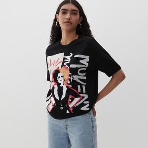 Bluzka Reserved w młodzieżowym stylu z okrągłym dekoltem z nadrukiem