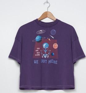 T-shirt House z okrągłym dekoltem w młodzieżowym stylu