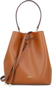 Brązowa torebka Ralph Lauren na ramię w wakacyjnym stylu