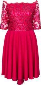 Sukienka KARKO hiszpanka z długim rękawem z dzianiny