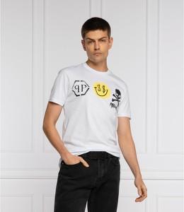 T-shirt Philipp Plein w młodzieżowym stylu z bawełny z krótkim rękawem