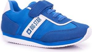 Niebieskie buty sportowe dziecięce Big Star dla chłopców na rzepy