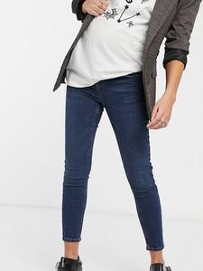 Topshop Maternity – Jamie – Ciemnoniebieskie jeansy o obcisłym kroju odsłaniającym brzuch