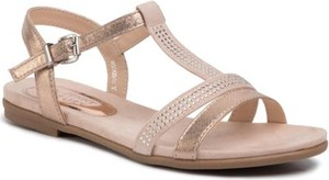 Różowe sandały Jenny Fairy w stylu casual z klamrami