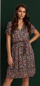 Sukienka Renee z dekoltem w kształcie litery v z krótkim rękawem mini