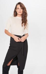 Bluzka Mohito w stylu glamour z okrągłym dekoltem