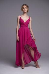 Różowa sukienka Ella Boutique na ramiączkach z tkaniny