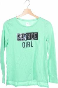 Zielona bluzka dziecięca Gap z długim rękawem