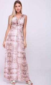 Sukienka Revd'elle maxi bez rękawów z dekoltem w kształcie litery v