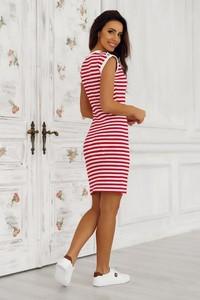 Sukienka Tcl mini w sportowym stylu z okrągłym dekoltem