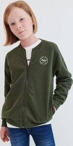Zielona bluza dziecięca Reserved z dzianiny