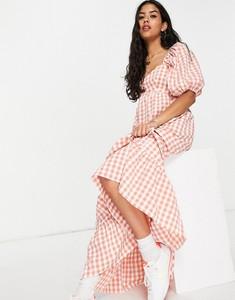 Sukienka Asos z krótkim rękawem maxi baskinka