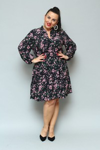 Sukienka KARKO z tkaniny oversize