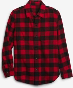 Czerwona koszula dziecięca Gap z bawełny w krateczkę