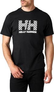 T-shirt Helly Hansen z bawełny z krótkim rękawem w młodzieżowym stylu
