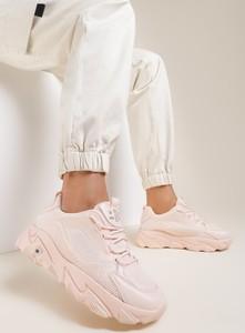Różowe buty sportowe Renee z zamszu