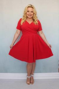 Sukienka KARKO dla puszystych z tkaniny
