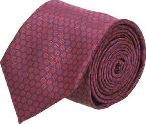 Czerwony krawat recman w abstrakcyjne wzory
