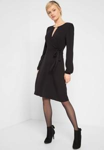 Czarna sukienka ORSAY z długim rękawem z dzianiny
