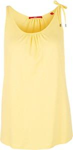 Żółty t-shirt S.Oliver z okrągłym dekoltem