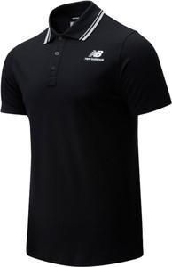 Czarna koszulka polo New Balance z bawełny w sportowym stylu