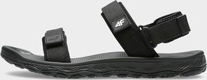 Czarne buty letnie męskie 4F