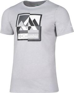 T-shirt Columbia w sportowym stylu z dzianiny z krótkim rękawem