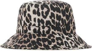Czarna czapka Ganni