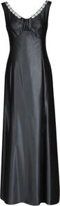 Czarna sukienka Fokus maxi z dekoltem w kształcie litery v