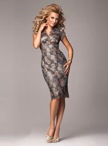 16b63f272d złota sukienka na sylwestra - stylowo i modnie z Allani
