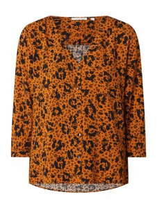Bluzka Tom Tailor Denim z dekoltem w kształcie litery v w stylu casual