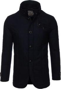 Czarny płaszcz męski Denley