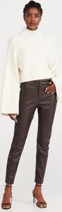 Brązowe spodnie Reserved w rockowym stylu
