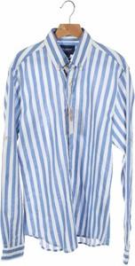 Niebieska koszula Pull&Bear z długim rękawem