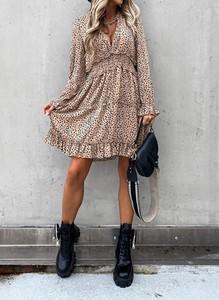 Sukienka Cikelly w stylu casual mini z długim rękawem