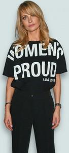 Czarny t-shirt ANETA KRĘGLICKA X L'AF z krótkim rękawem