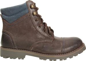 Brązowe buty dziecięce zimowe EMEL sznurowane