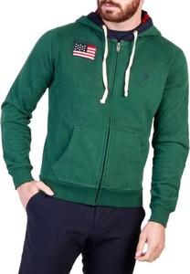 Zielona bluza U.S. Polo z bawełny