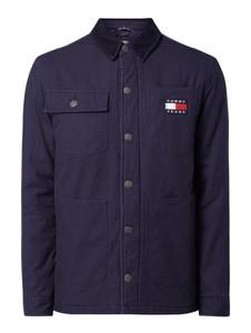 Granatowa kurtka Tommy Jeans z jeansu w stylu casual