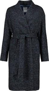 Czarny płaszcz Lavard w stylu casual