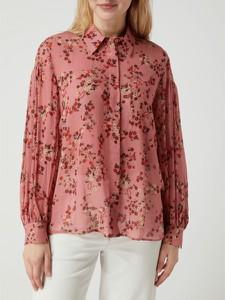 Różowa bluzka Luisa Cerano z dekoltem w kształcie litery v