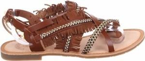 Brązowe sandały MOLLY BRACKEN z klamrami w stylu casual