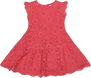 Różowa sukienka dziewczęca Mayoral w kwiatki