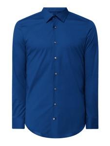 Niebieska koszula Joop! z długim rękawem z bawełny z klasycznym kołnierzykiem