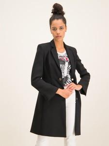 Czarny płaszcz Pinko