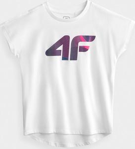 Koszulka dziecięca 4F z dzianiny z krótkim rękawem