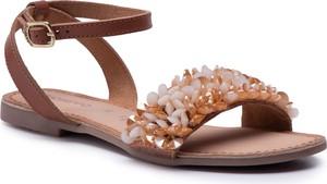 Brązowe sandały GIOSEPPO w stylu casual z klamrami ze skóry