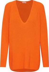 9f96db3ec13589 Pomarańczowe swetry damskie casualowe, kolekcja lato 2019