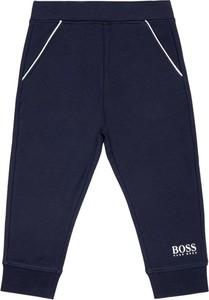 Granatowe spodnie dziecięce Boss
