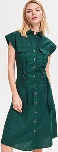 Sukienka Reserved koszulowa bez rękawów z kołnierzykiem